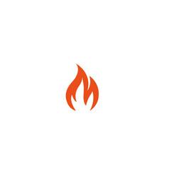 Fire flame blaze logo design icon vector