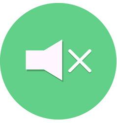 Flat speaker button icon vector