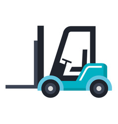 forklift vehicle isolated icon vector image