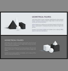 Geometrical figures set text vector