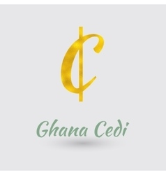Golden Cedi Symbol vector image