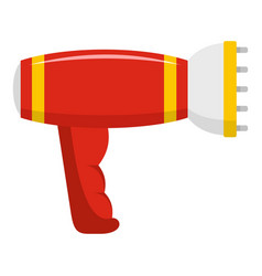 hairdryer icon flat style vector image