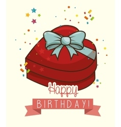 happy birthday design isolated vector image