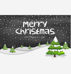 happy new year merry christmas 2019 vector image