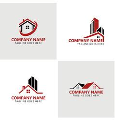 home building logos vector image