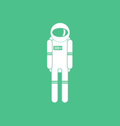 Icon silhouette of an astronaut vector