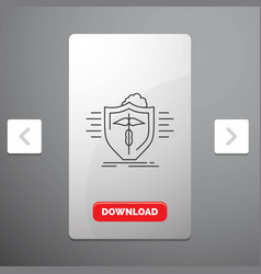 insurance health medical protection safe line vector image