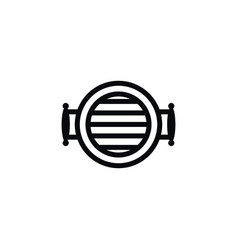 isolated equipment icon grill element can vector image