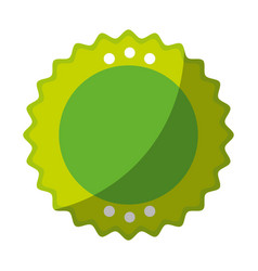 Isolated round icon vector