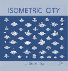 isometric set collection vector image