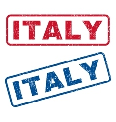 Italy Rubber Stamps vector image