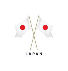 Japan flag template design vector