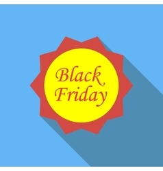 Label black friday icon flat style vector