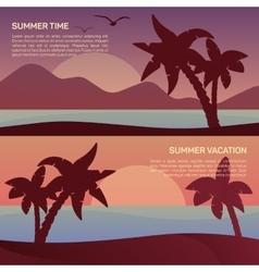 Landscape in tropics vector