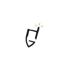 Letter g pencil creative and symbolic logo design vector