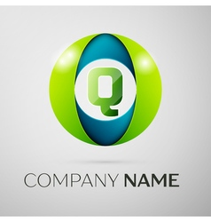 Letter Q logo symbol in the colorful square on vector image