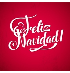 Merry Christmas Background Inscription Spanish vector image