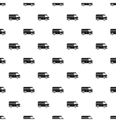 Minibus taxi pattern simple style vector