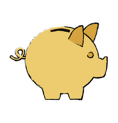 Moneybox piggy safe deposit banking vector