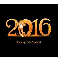 New Year card with monkey3 vector