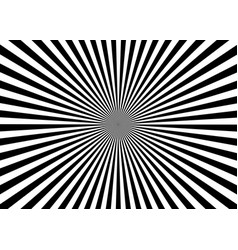 Optical illusion deception radial black lines vector
