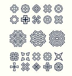oriental design elements set easy to create vector image
