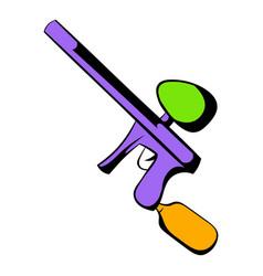 Paintball gun icon cartoon vector