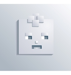paper square boy vector image