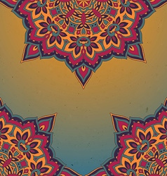 Pattern of the indian floral ornament with a lot vector image