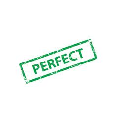 perfect stamp texture rubber cliche imprint web vector image