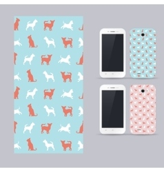 Phone case design chihuahua small dog vector image