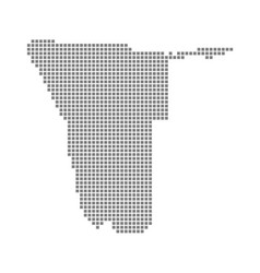 pixel map of namibia dotted map of namibia vector image