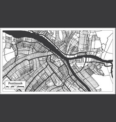 Pontianak indonesia city map in black and white vector