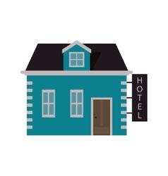 Pretty house hotel icon vector