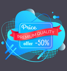 Price reduction offer 50 percent off banner vector