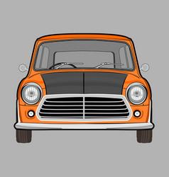 retro classic car mini cooper mr beans vector image