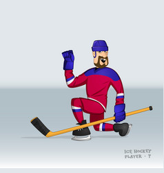 russian ice hockey player vector image