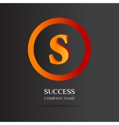 S Letter logo abstract design vector