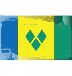 Saint Vincent Grenadines flag vector image