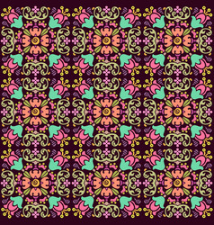 seamless floral pattern with smooth color vector image
