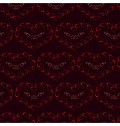 Seamless of burning hearts pattern vector