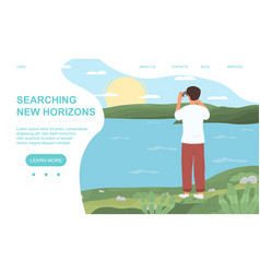searching new horizons concept vector image