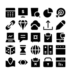 SEO and Marketing icons 6 vector image