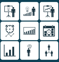 Set 9 administration icons includes special vector