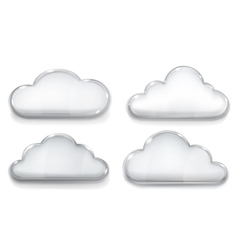 Set of opaque glass clouds vector image