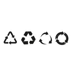 set recycle arrow vector image