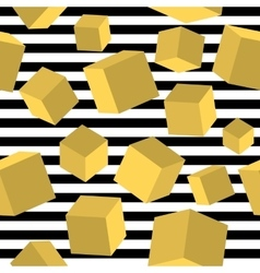 Striped geometric seamless pattern trendy memphis vector image