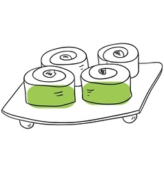The rolls vector image