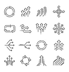 Transition line icon set vector