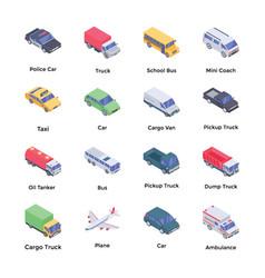 Transport isometric pack vector